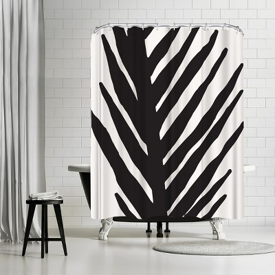 "Americanflat Abstract Minimal Palm by Modern Tropical 71"" x 74"" Shower Curtain"