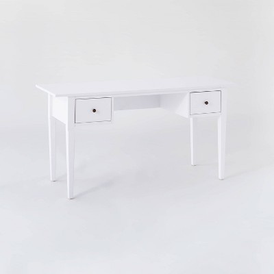 Dana Point Wood Writing Desk with Drawers White - Threshold™ designed with Studio McGee