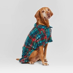Holiday Tartan Plaid Pet Pajamas - Wondershop™ Blue