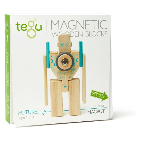 Tegu Magbot Magnetic Wooden Block Set - image 1 of 6