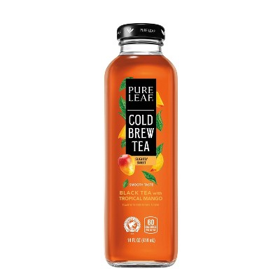 Pure Leaf Cold Brew Tropical Mango Tea Beverage - 14 fl oz Glass Bottle