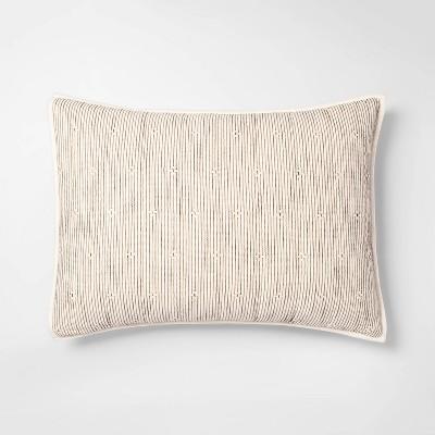 Standard Texture Stripe Pillow Sham Neutral/Black - Opalhouse™