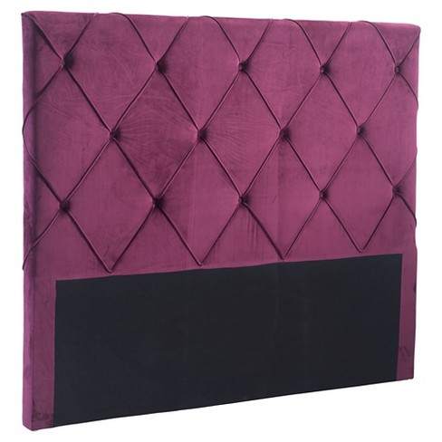 Luxury Upholstered Headboard - Wine Velvet - ZM Home - image 1 of 5