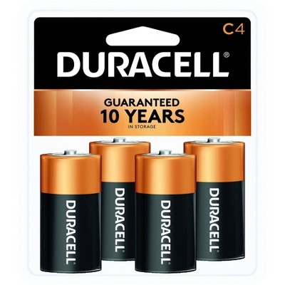 Duracell Coppertop C Batteries - 4 Pack Alkaline Battery