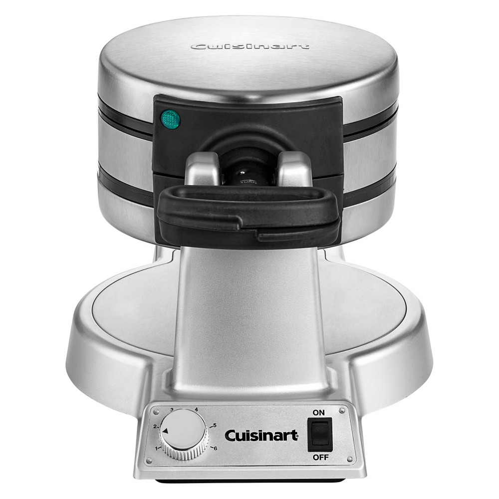 Image of Cuisinart Double Belgian Waffle Maker - Stainless Steel WAF-F20, Silver