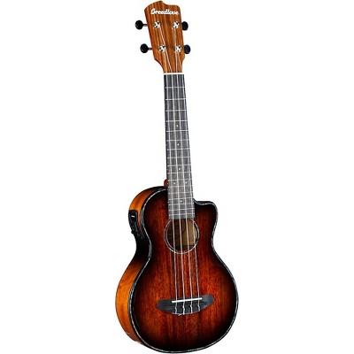 Breedlove Pursuit Exotic S CE Myrtlewood Concert Acoustic-Electric Ukulele Bourbon Burst