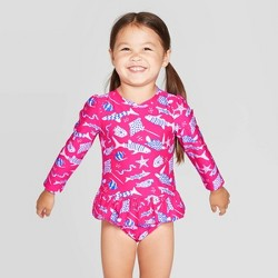 Toddler Girls' One Piece Swimsuit - Cat & Jack™ Magenta