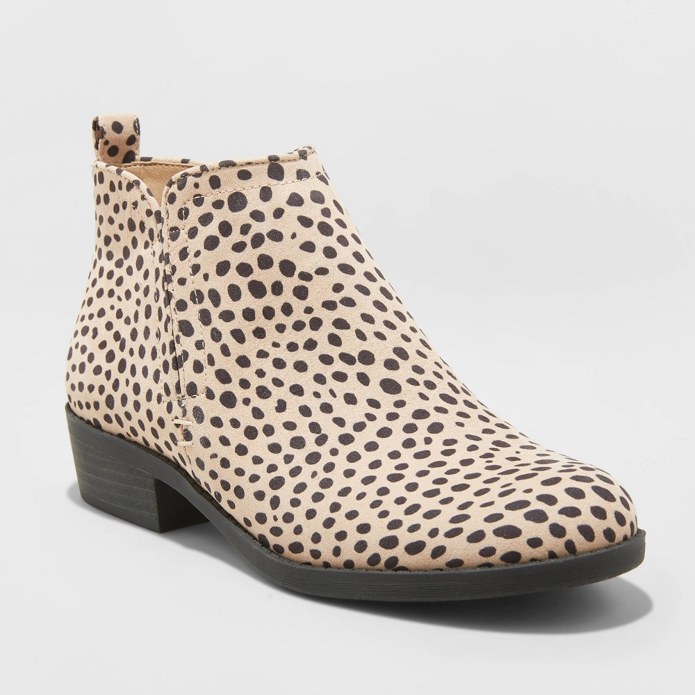 Women's Dylan Microsuede Leopard Laser Cut Bootie - Universal Thread Brown 8 was $34.99 now $20.99 (40.0% off)
