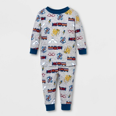 Baby Harry Potter Family Pajama Set Footed Sleeper - Gray 3-6 M