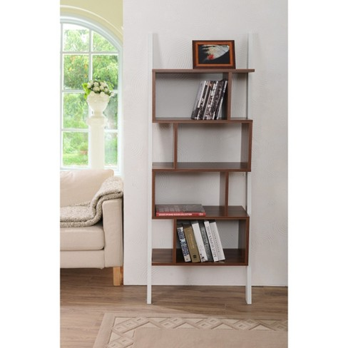 ascencio ladder bookshelf and display case homes inside out