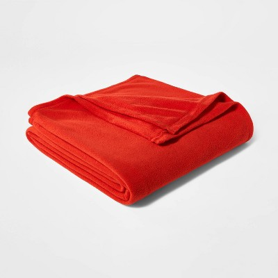Solid Fleece Bed Blanket - Room Essentials™