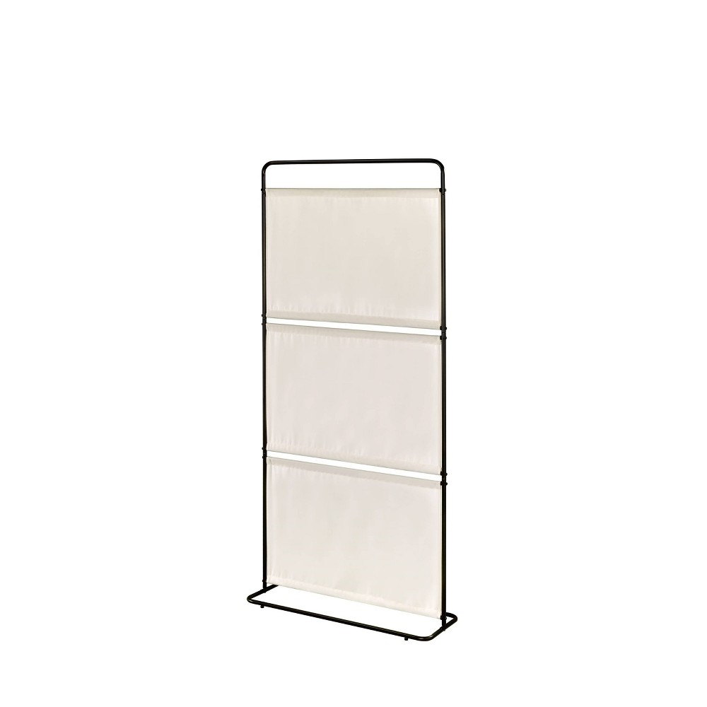 Image of Saturn Room Divider Three Fabric Beige - Proman Products