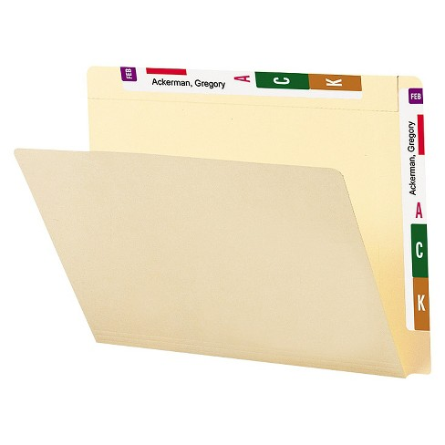 Smead® Conversion File Folders, Straight Cut Top Tab, Letter, Manila, 100/Box - image 1 of 1