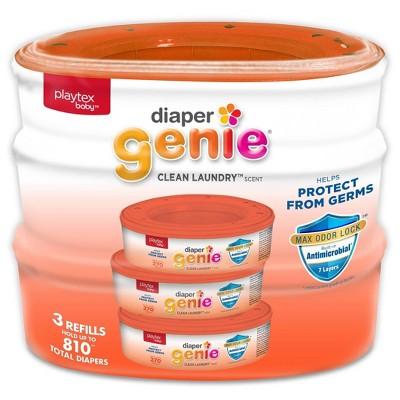 Playtex Baby Diaper Genie Diaper Disposal Pail System Refill - Clean Laundry - 3pk