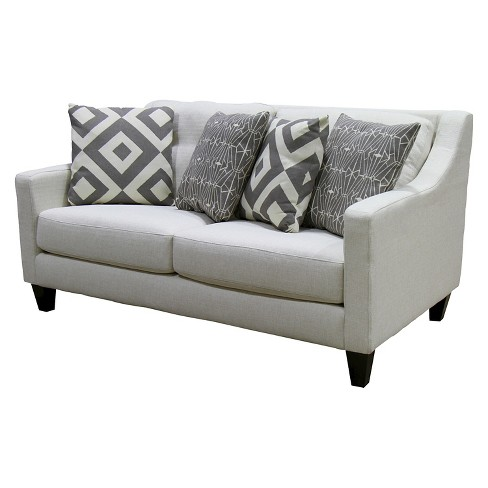IoHomes Janey Contemporary Style Love Seat Ivory : Target