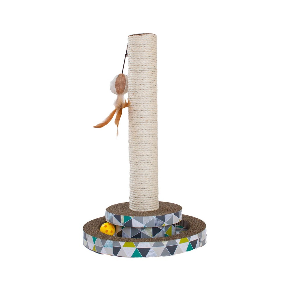 Petstages Scratch And Play Tower Track Cat Scratcher