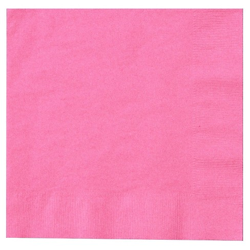 50ct Pink Dinner Napkin - image 1 of 1