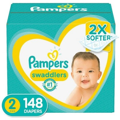 Pampers Swaddlers Diapers - Size 2 - 148ct