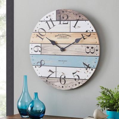 Newton Woodgrain Farmhouse Clock - FirsTime