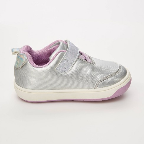 Baby Girls' Stride Rite Flutter Silver Sneakers - Silver - image 1 of 4