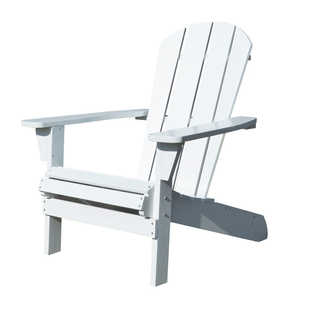 Image of Faux Wood Adirondack Chair - White - Merry Products