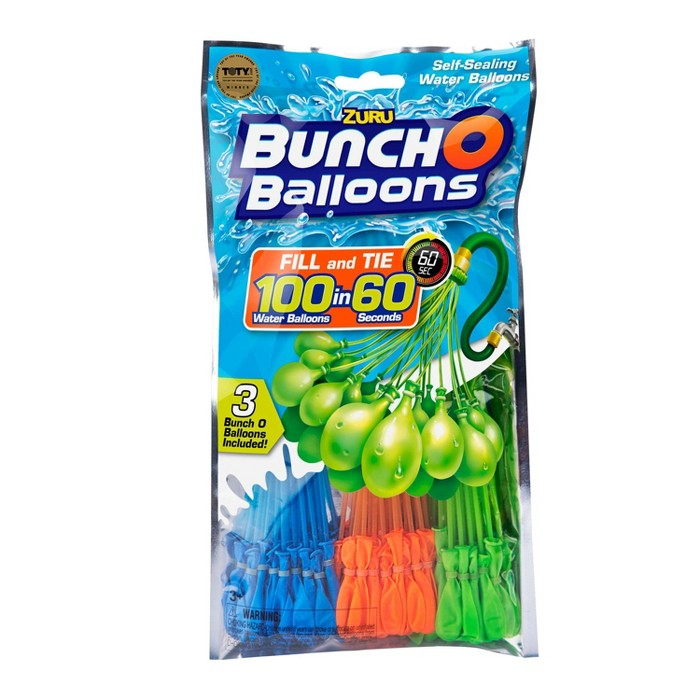 Zuru Bunch O Balloons 100 Self-Sealing Water Balloons - Blue/Green/Orange - image 1 of 4