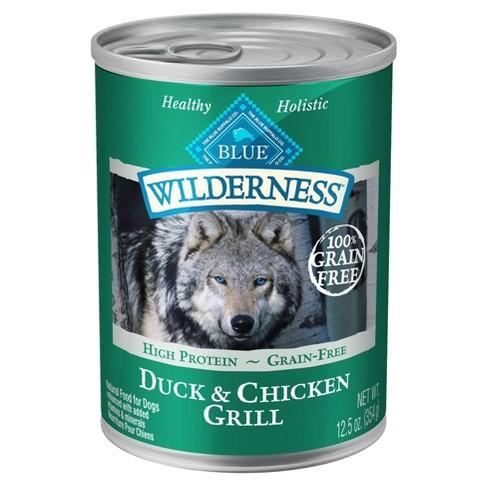 Blue Buffalo Wilderness High Protien Grain Free Duck & Chicken Grill Wet Dog Food - 12.5oz - image 1 of 4