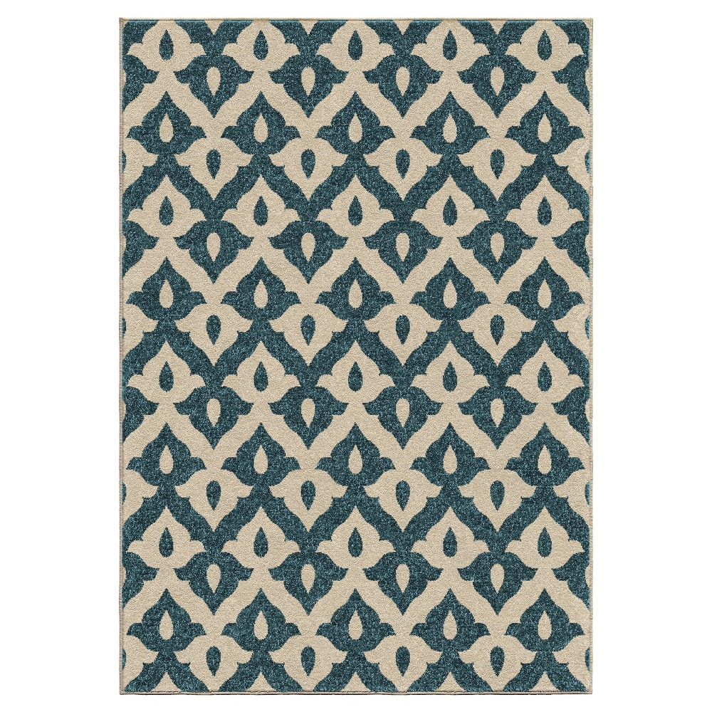Orian Rugs Family Crest Promise Indoor/Outdoor Area Rug - Blue (7'8
