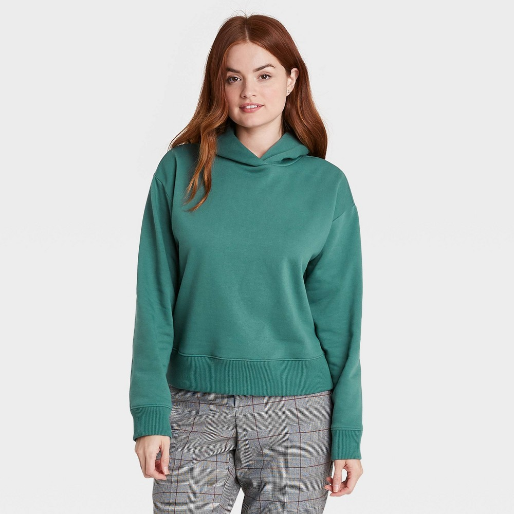 Women 39 S Hooded Sweatshirt A New Day 8482 Green L