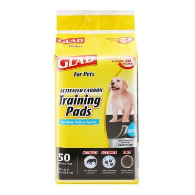 Glad Activated Carbon Training Pads for Puppies and Senior Dogs - 50ct