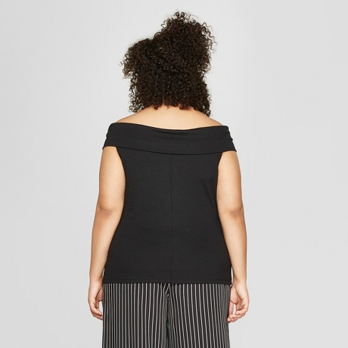 44a775f89897b Women s Plus Size Off The Shoulder Top - Who What Wear™   Target