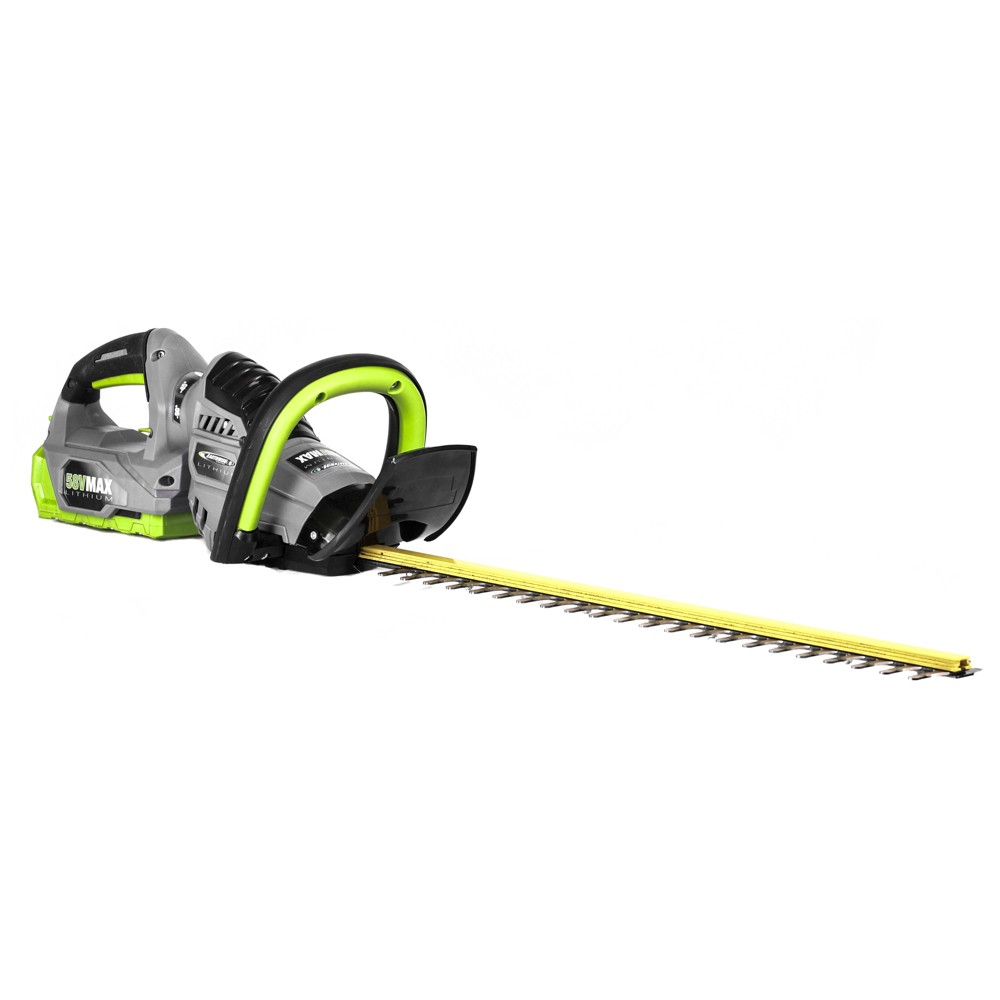 "Image of ""24"""" 58 Volts, 112 Watts Cordless Lithium Hedge Trimmer - Gray - Earthwise"""