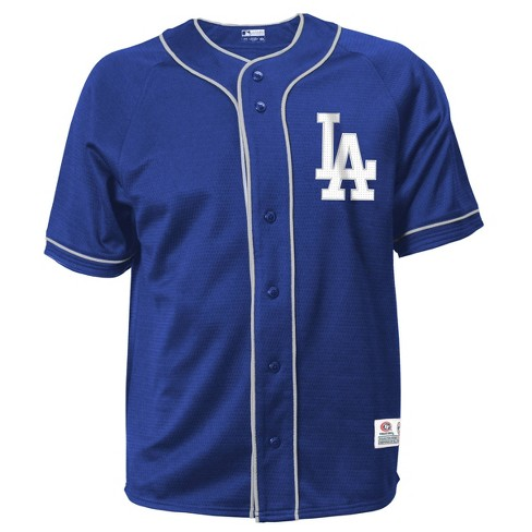 MLB Los Angeles Dodgers Men's Button-Down Jersey - image 1 of 1