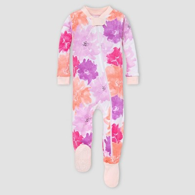 Burt's Bees Baby® Baby Girls' Floral Organic Cotton Footed Pajama - Purple 3-6M