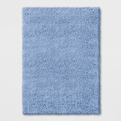 4'X5'6  Solid Tufted Washable Accent Rug Blue - Room Essentials™
