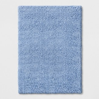 """4'X5'6"""" Solid Tufted Washable Accent Rug Blue - Room Essentials™"""