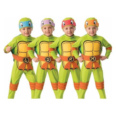 Toddler Teenage Mutant Ninja Turtles 4-in-1 Halloween Costume - image 1 of 1