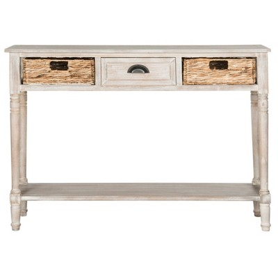 Christa Console Table with storage - Vintage White - Safavieh®