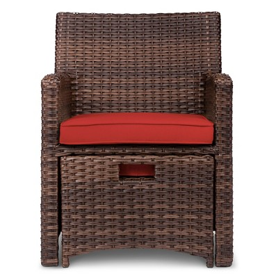 Halsted 5pc Wicker Small Space Patio Furniture Set... : Target