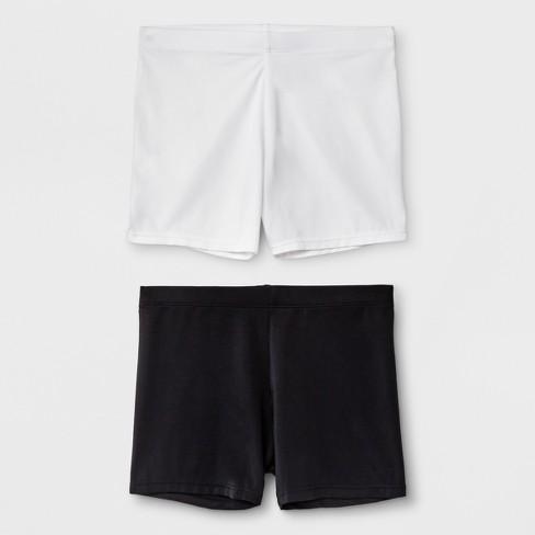 Girls' 2pk Boy Shorts - Cat & jack™ Black - image 1 of 1