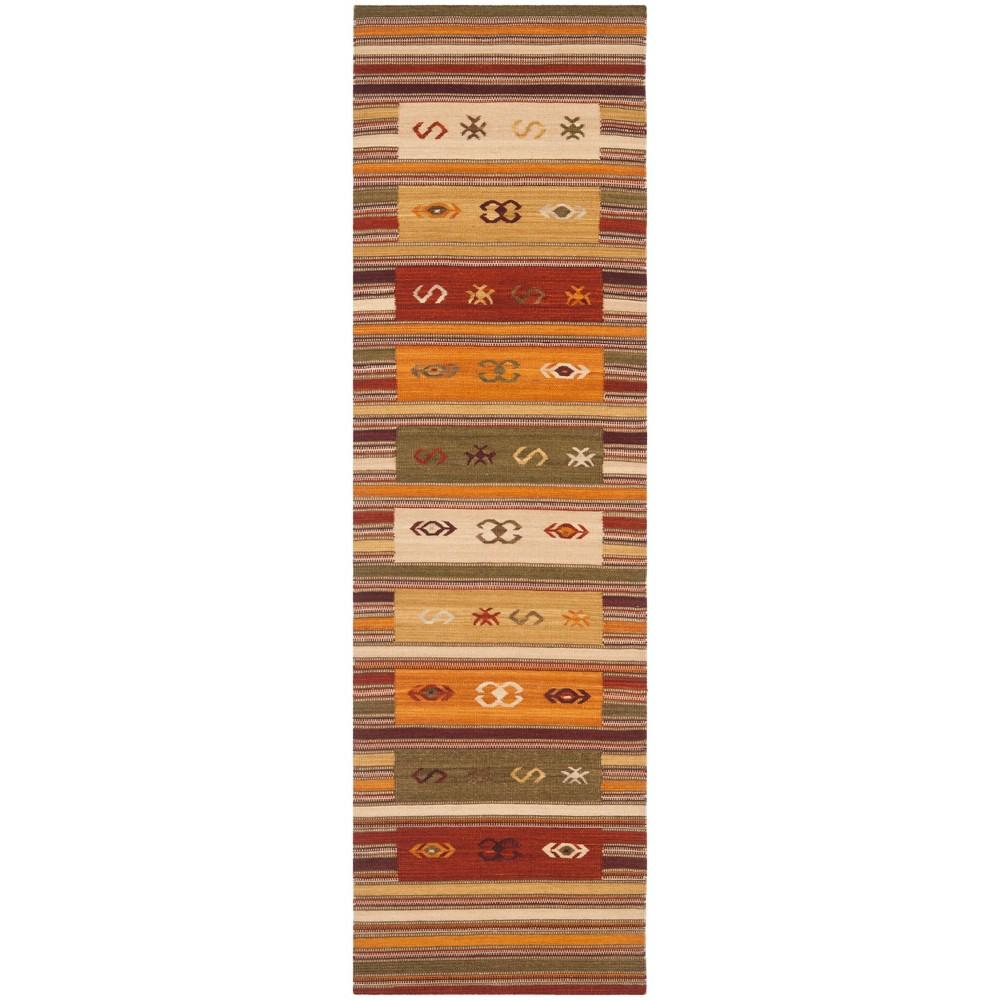 2'3X12' Woven Tribal Design Runner Rug Burgundy - Safavieh, Red