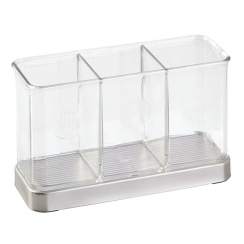 InterDesign Forma Stainless Steel Flatware Organizer Clear - image 1 of 5
