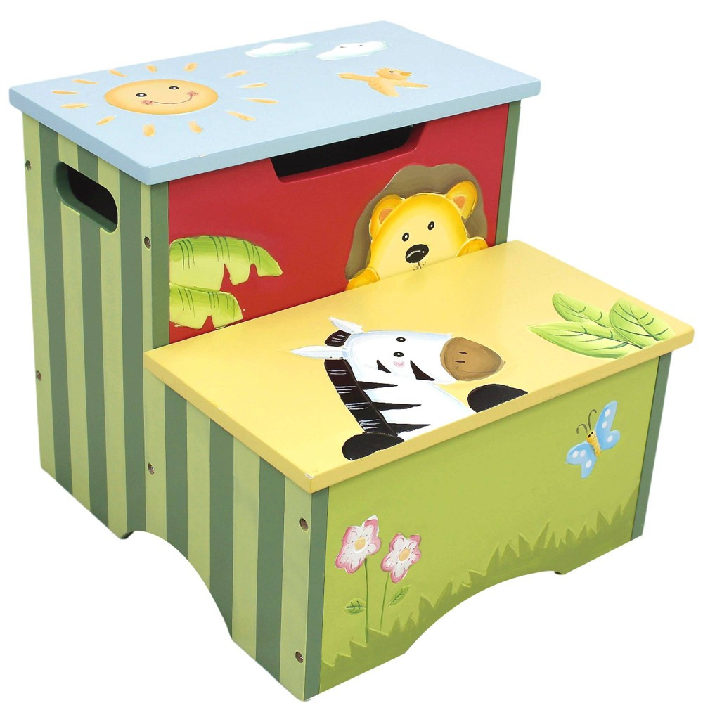 Image of Sunny Safari Fantasy Fields Step Stool - Teamson Kids