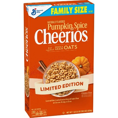 Pumpkin Spice Cheerios Family Size Cereal - 18.5oz - General Mills
