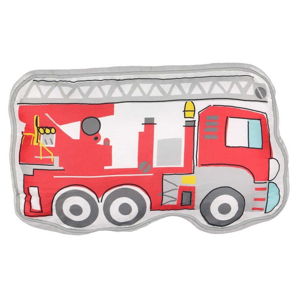 "Image of ""10""""x17"""" Hero Squad Firetruck Throw Pillow - Waverly Kids"""