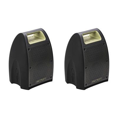 KICKER 43BF400G Bullfrog Portable Waterproof and Dustproof Outdoor Bluetooth Speaker with Powerful 20 Watt Amp & 360 Sound (2 Pack)
