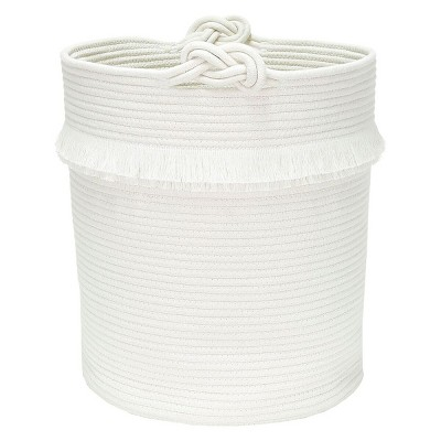 Round Fabric Toy Storage Bin White - Pillowfort™
