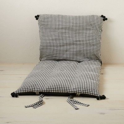 Woven Textured Lounge Pillow Dark Gray/Off-White - Opalhouse™ designed with Jungalow™