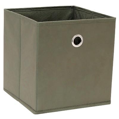 "11"" Fabric Cube Storage Bin Warm Gray - Room Essentials™"