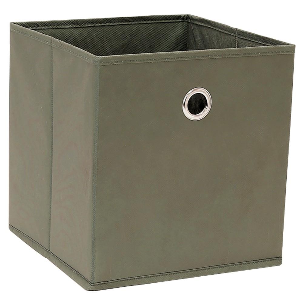 "Image of ""Cube Storage Bin Warm Gray 11"""" - Room Essentials"""